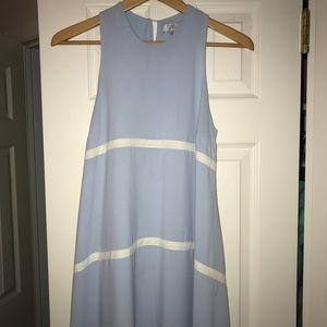 Tobi striped light blue shift dress